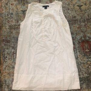 NWOT Gap white cotton tunic top, size 2